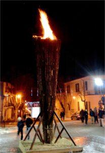 Festa di Sant'Antonio Abate a Collelongo - Torcione