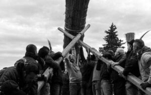 Le farchie - Festa di Sant'Antonio Abate a Fara Filiorum Petri - Foto di Federica Puca