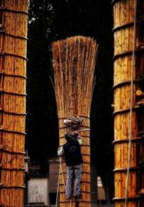 Le farchie - Festa di Sant'Antonio Abate a Fara Filiorum Petri - Foto di Lorenzo Fosco