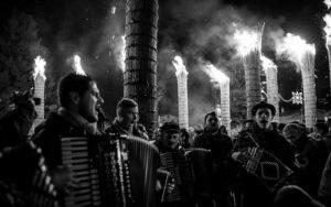 Le farchie - Festa di Sant'Antonio Abate a Fara Filiorum Petri - Foto di Regina Nardini