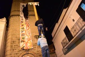 Festa di Sant'Antonio Abate a Macerata Campania - Giochi tradizionali - Il palo di sapone
