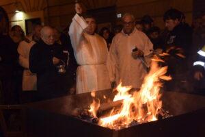 Festa di Sant'Antonio Abate a Macerata Campania - La benedizione del fuoco