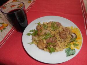 Festa di Sant'Antonio Abate a Macerata Campania - La past'e'llessa (piatto tipico)