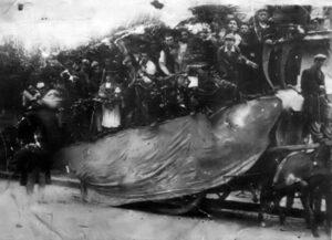 Carro di Sant'Antuono nella prima metà del XX secolo, Macerata Campania, datazione incerta anni '20/'40 del XX secolo