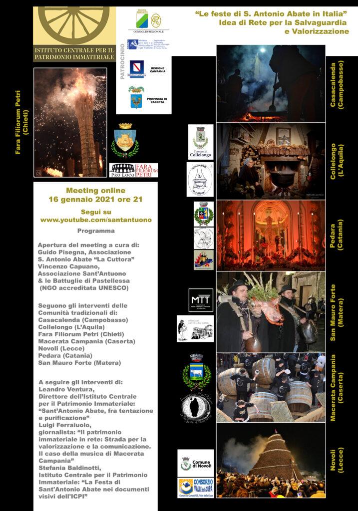 Feste S Antonio Abate in Italia Meeting 16 01 2021