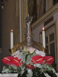 Braccio reliquiario di Sant'Antonio Abate a Pedara