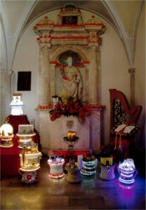 Statua di Sant'Antonio Abate a Collelongo