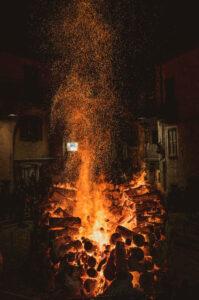 Festa di Sant'Antonio Abate a Trivigno - Falò - Foto Veronica Basso
